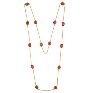 Swasti JewelsロングチェーンネックレスLariat withピンクmonalsa Stones for Women