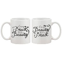 365 Printing Every Beauty Needs a Beast Romantic Matching Coffee Mugs - Perfect Wedding, E...