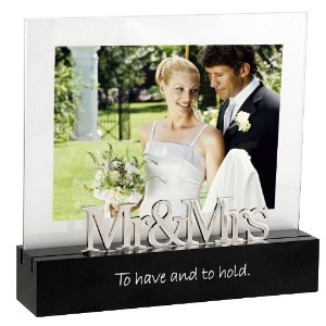 Malden Celebrated Moments Black Wood Picture Frame, Mr. and Mrs., 5 by 7-Inch [並行輸入品]
