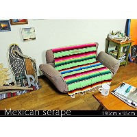 RUG&PIECE Mexican Serape made in mexcico ネイティブ メキシカン サラペ メキシコ製 190cm×95cm