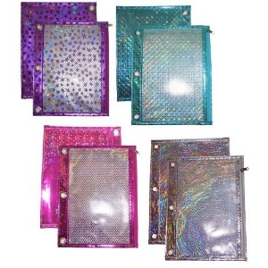 High Quality Laser Binder Pouch with Mesh Pocket, Design May Vary, 1 Pouch per Pack (488-2)