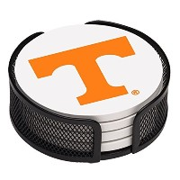 High Quality VUTN2-HA17 Stoneware Drink Coaster Set with Holder, University of Tennessee