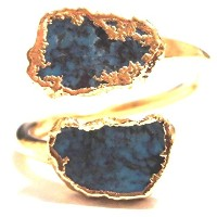 LUXDIVINE ターコイズリング 約16号~17号 Turquoise Wrap Ring 35