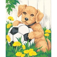 Dimensions Needlecrafts Paintworks Paint By Number, Puppy & Soccer Ball [並行輸入品]