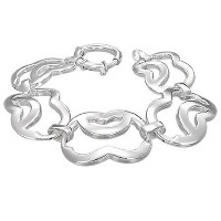 925 Sterling Silver Chunky Link Chain Womens Bracelet with Clasp