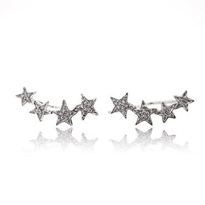 Sovats Woman CZ Four Star EarringソバッツウマンCZフォースターピアス