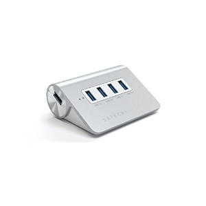 Satechi 4ポート USB 3.0 プレミアムアルミニウムハブ iMac, MacBook Air, MacBook Pro, MacBook, Mac Mini (White Trim (4...