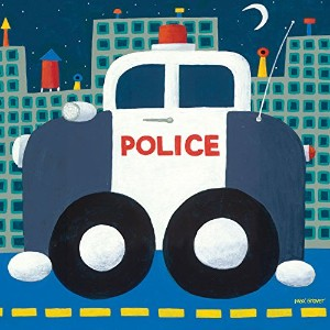 Oopsy Daisy Police Cruiser Stretched Canvas Wall Art by Max Grover, 10 by 10-Inch by Oopsy Daisy