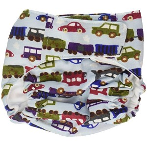 CuteyBaby That's a Wrap Diaper Cover, Trains & Cars, Medium by CuteyBaby