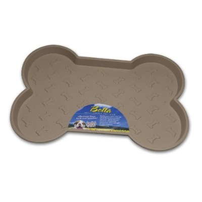 Loving Pets Bella Spill-Proof Pet Mat for Dogs, Small, Tan by Loving Pets