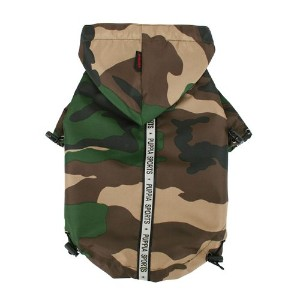 Puppia Authentic Base Jumper Raincoat, XX-Large, Camo by Puppia