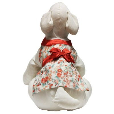 Gooby Sundress for Dogs, Small, Red Flower by Gooby