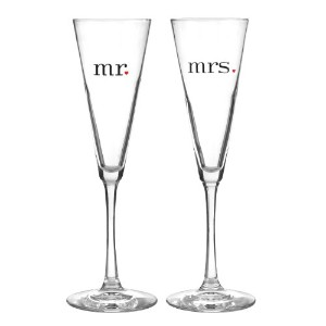 Hortense B. Hewitt Wedding Accessories Together at Last Mr. and Mrs. Champagne Toasting Flutes, Set...