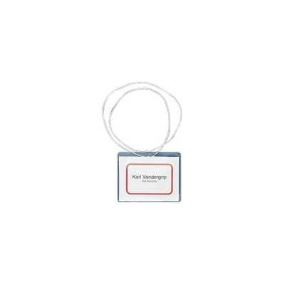 Badge Holder Kits, Top Load, 3 x 4, White, Elastic Cord, 50/Box (並行輸入品)