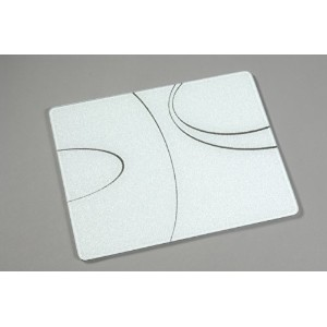 Corelle 20 x 16 Surface Saver Tempered Glass Cutting Board, Simple Lines by CORELLE