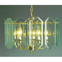 Volume Lighting V3195-C2 Chandelier, Polish Brass Finish by Volume Lighting