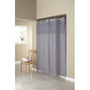 Hookless Fabric Shower Curtain with Built in Liner -Grey by Hookless [並行輸入品]