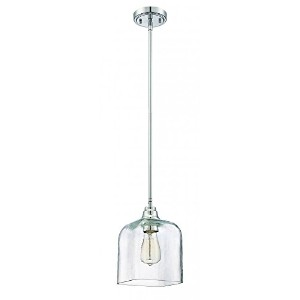 Jeremiah P301CH1 1 Light Mini Pendant with Clear Glass, Chrome by Jeremiah