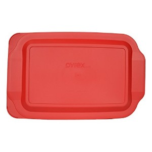 Pyrex Red Plastic Lid for 3 Qt Oblong Baking Dish 233-PC by Pyrex