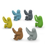 Fred & Friends SOCIAL CLIMBERS Sloth Drink Markers, Set of 6 by Fred & Friends