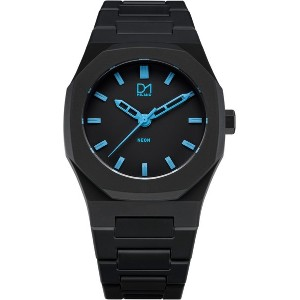 メンズ D1 MILANO A-NE01 Neon Watch Black with Blue Index 腕時計 ブラック