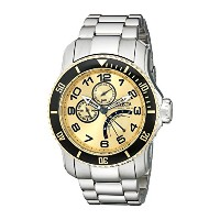 インヴィクタ Invicta Men's 15337 Pro Diver Gold Dial Stainless Steel Watch [並行輸入品]