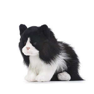 DEMDACO Tuxedo Cat Plush Toy, Large by Demdaco