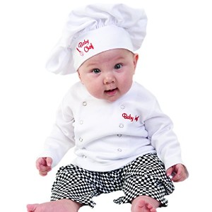 Baby Aspen Baby Chef 3 Piece Layette in Culinary Gift Box, White, 0-6 Months by Baby Aspen