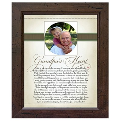 The Grandparent Gift Co. Heart Collection 8x10 Frame, Grandpa's Heart by The Grandparent Gift Co.