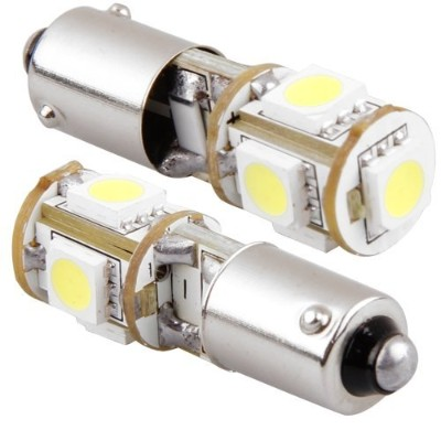 SODIAL(R) 2X CANBUS 5 SMD LEDライトランプ電球H6W BAX9Sトレンド