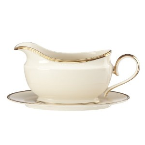 Lenox Eternal Sauce Boat and Stand, Ivory by Lenox