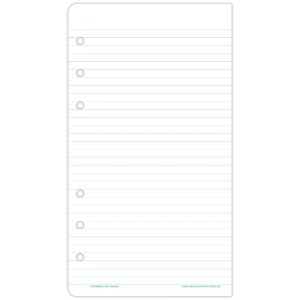 Lined Note Pads for Organizer, 3-3/4 x 6-3/4, 48 Sheets/Pack (並行輸入品)
