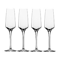 Stolzle 6.75-Ounce Experience Champagne Flute Glasses, Set of 4 by Stolzle