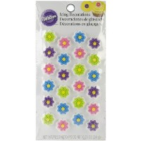 Wilton 710-1230 Flower Cookie Decorations, Mini by Wilton