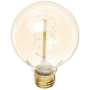 Heirlume HL-7340WPack1 Vintage Edison Bulb 40-watt with Medium Base and Globe Shape, 3.2-Inch x 4.7...