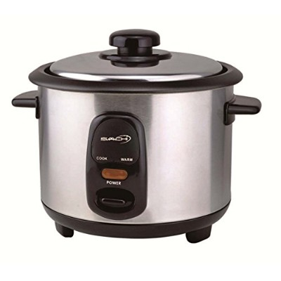 Saachi RC60 3 Cup Automatic Rice Cooker (Uncooked) with Keep Warm, Stainless Steel and Non-Stick...