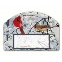 Magnet Works MAIL71012 Winter Morning Cardinals Yard DeSign by MagnetWorks