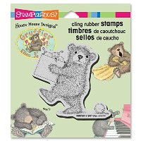 """Stampendous Gruffies Cling Rubber Stamp 3.5""""X4"""" Sheet-Decorating Bear (並行輸入品)"""