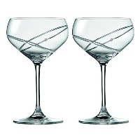 Royal Doulton Promises With This Ring Champagne Saucer Pair, Clear by Royal Doulton