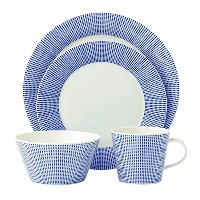 Royal Doulton Pacific 4 Piece Dots Place Setting, White by Royal Doulton