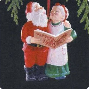 Holiday Duet Mr. and Mrs. Claus 4th in Series 1989 Hallmark Ornament QX4575 by Hallmark Ornament ...