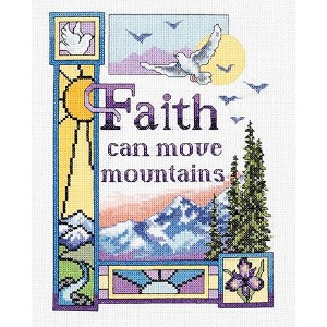 """Faith Can Move Mountains Counted Cross Stitch Kit-7""""X9"""" 14 Count (並行輸入品)"""