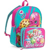 """Shopkins Toys 16"""" Kidsバックパックwith Insulated Lunchバッグ"""