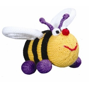 Bee Elizabeth Organic Rattle by Zubels