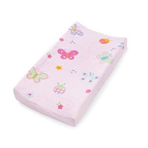Summer Infant Ultra Plush Character Changing Pad Cover, Butterflies & Ladybugs by Summer Infant