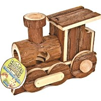 Ware Manufacturing Pet Critter Timber Bark Chew Train Natural Wood for Rabbits
