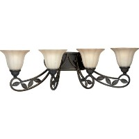 Progress Lighting P2969-84 4-Light Le Jardin Wall Bracket, Espresso by Progress Lighting