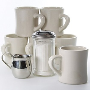 Coffee Mugs Classic Diner Tableware Set by VV
