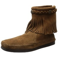 [ミネトンカ] MINNETONKA MINNETONKA 公式 HI TOP BACK ZIP BOOT 293 DARK BROWN (DARK BROWN/8)