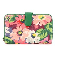Cath Kidston キャスキッドソン 二つ折り財布 2015年春夏 481328 Small Leather Trim Wallet Painted Daisy Pink [並行輸入品]